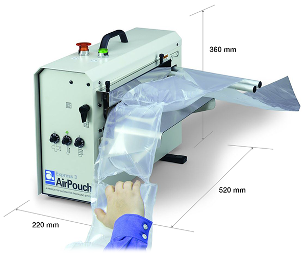 AirPouch Express 3 with Dimensions